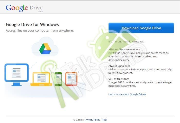 Filtración de una imagen de Google Drive
