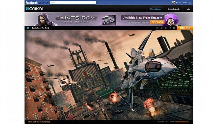 Captura de Gaikai funcionando en Facebook
