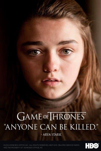 Arya en Game of Thrones