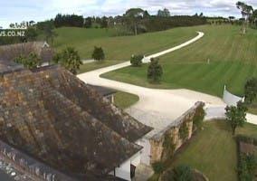Vista de una camara de seguridad de la mansión de Dotcom en Nueva Zelanda