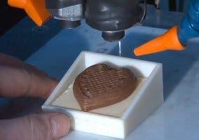 Resultado de un modelo 3D realizado en chocolate
