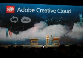 Directivos de Adobe en la presentación de Adobe Creative Cloud