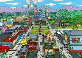 Imagen de Springfield, ciudad de Los Simpsons, situada en Oregón