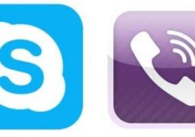 Logos de Skype y Viber