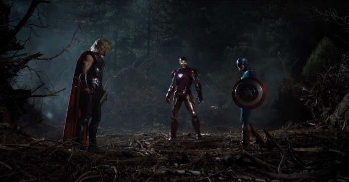 Thor, Iron Man y el Capitán América