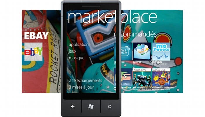 Montaje del Marketplace de Windows Phone 7