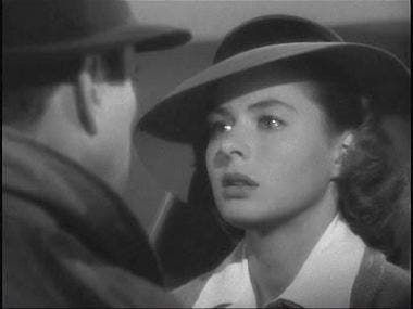 Escena de la película Casablanca