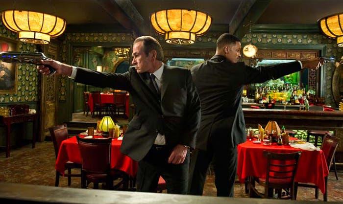 Escena con Will Smith y Tommy Lee Jones
