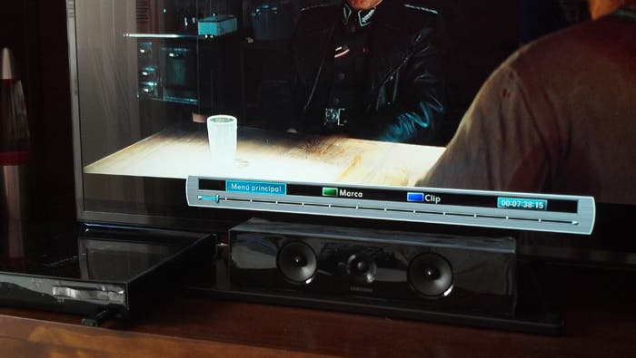 Barra de progreso en modo Blu-ray
