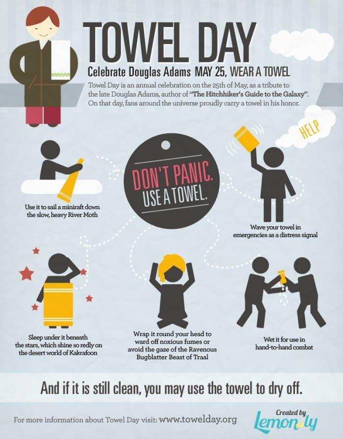 Infografía del Dia de la Toalla
