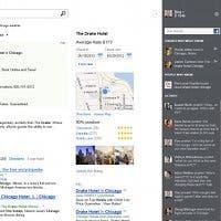 Captura de pantalla de la barra social del buscador Bing de Microsoft