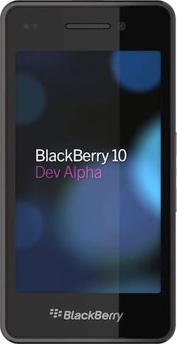 Imagen del prototipo BlackBerry 10 Dev Alpha