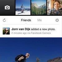 Captura de pantalla de la aplicación Facebook Camera