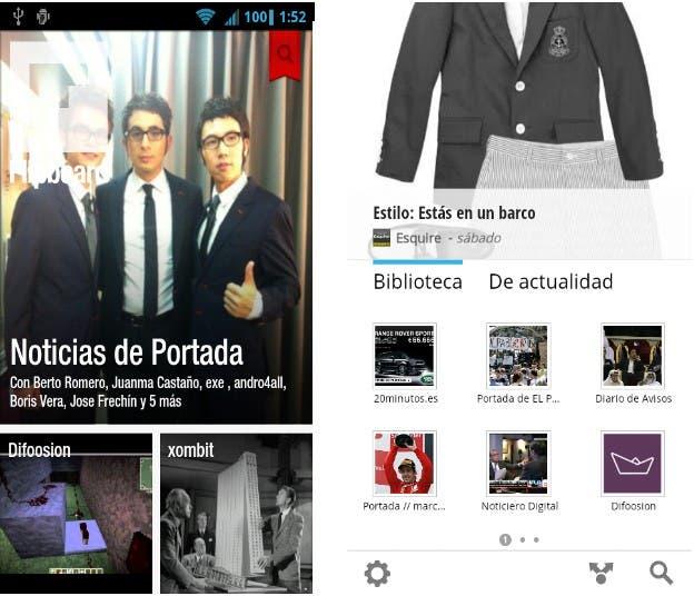 Capturas de pantalla de ambas aplicaciones
