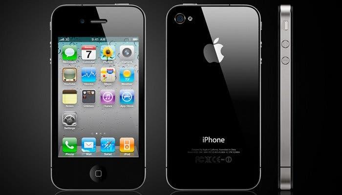 Imagen de un iPhone 4S desde varios ángulos