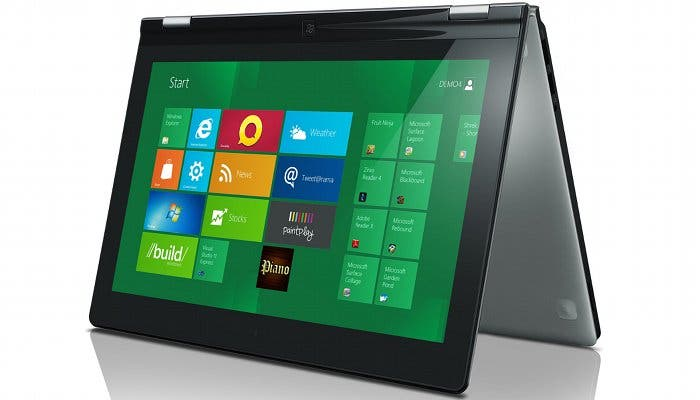 Fotografía de un Lenovo IdeaPad Yoga con Windows 8