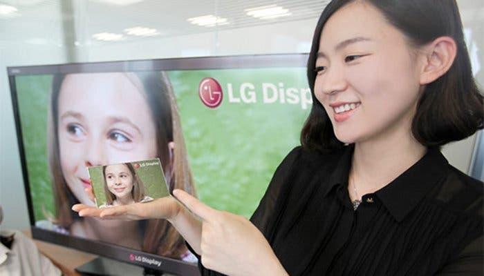 Fotografía de un panel LG Full HD de 5 pulgadas