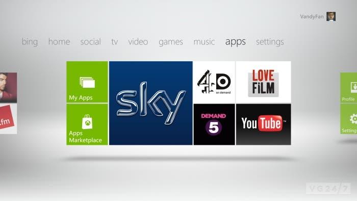 Aplicaciones de Xbox 360 en su dashboard