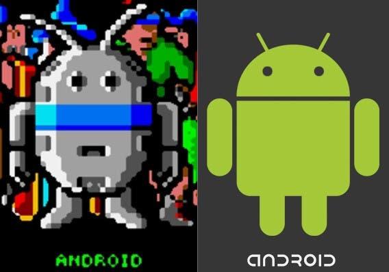 Comparativa Del Personaje Android En La Videoconsola Atari Lynx Y El Android De Google