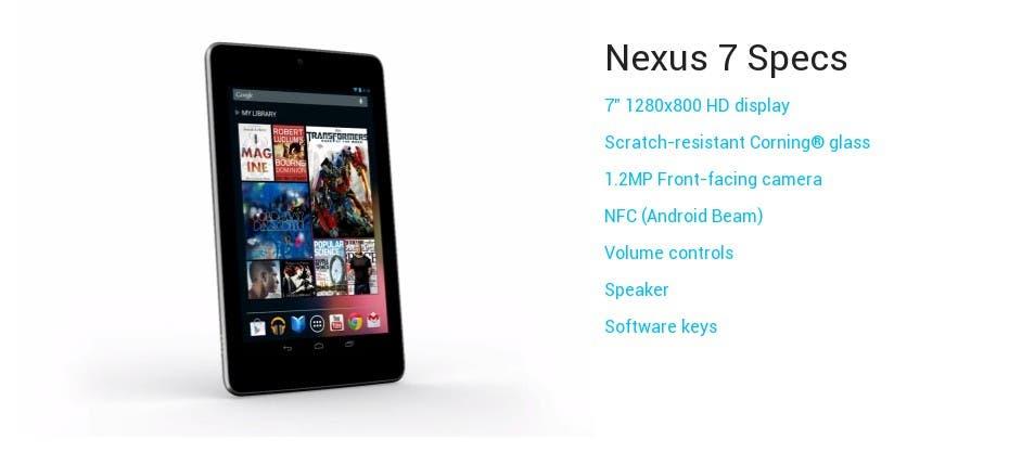 Imágenes Y Principales Especificaciones De La Google Nexus 7