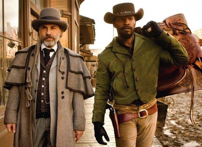 Christopher Waltz y Jamie Foxx en Django Desencadenado