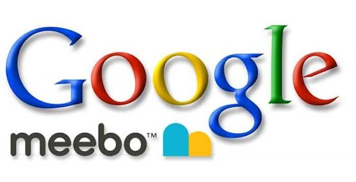 Logotipos de Google y Meebo