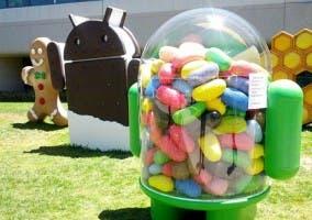Imagen del parque de las esculturas de Google en la que se ve la escultura de Jelly Bean.