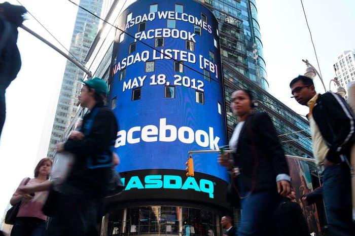 Este mismo año Facebook comenzó a cotizar