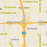 Captura de pantalla del servicio de cartografía Google Maps