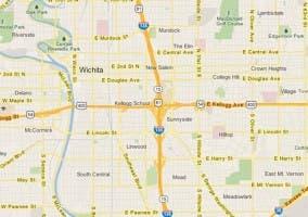 Detalle de la versión web del servicio Google Maps.