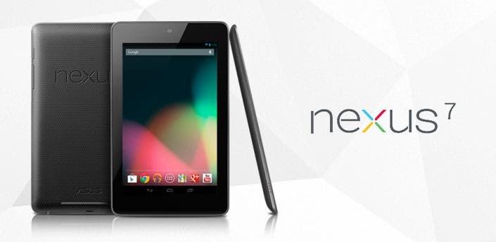 Fotografía del nuevo tablet Nexus 7 de Google