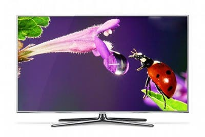 Televisor inteligente de Samsung con pantalla encendida