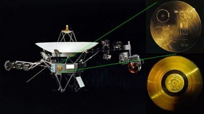 Gráfica De Los Discos De Oro Con Información De Voyager-1 y -2