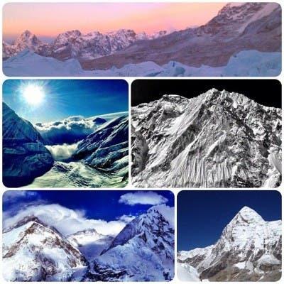 Collage Hecho Con Fotos Del Everest En Instagram
