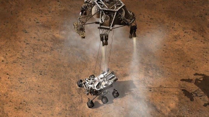 Aterrizaje Del Curiosity En La Superficie De Marte