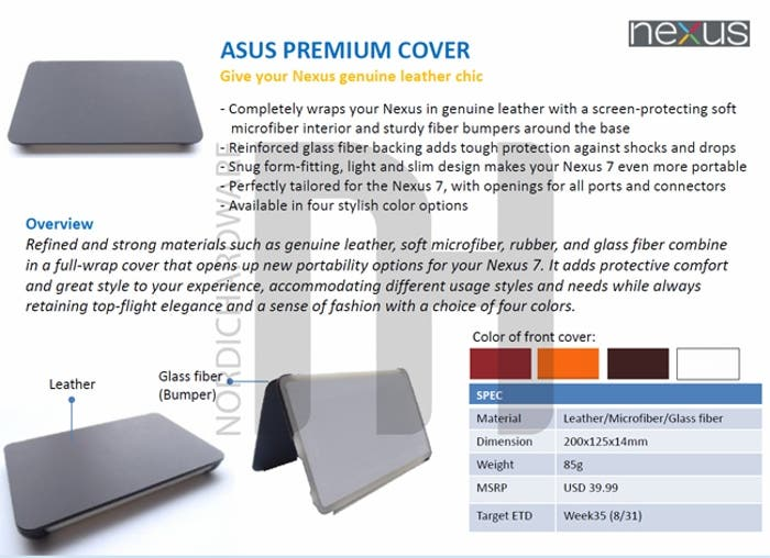 Funda Premium Nexus 7
