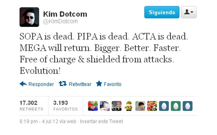 Tweet Kim Dotcom