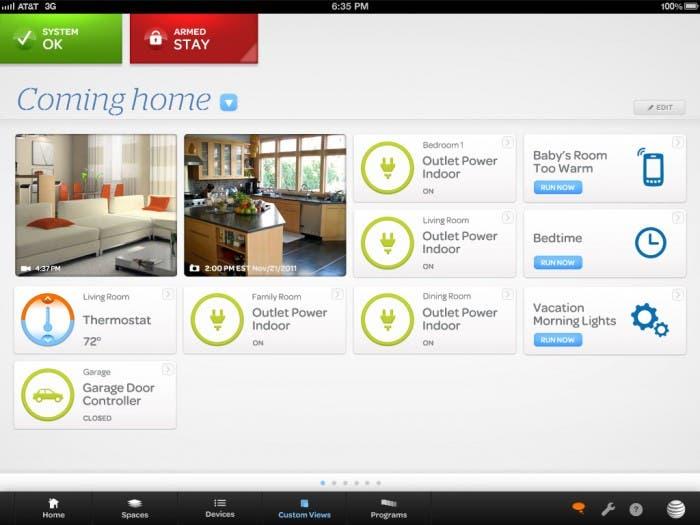 Captura de la aplicación Digital Life en una tablet