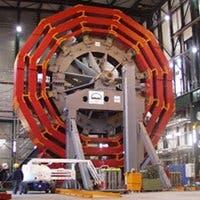 Imagen de la construcción del LHC del CERN