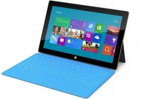 Fotografía de Microsoft Surface con su teclado