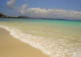 Orilla de una playa en Fuerteventura.