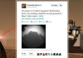 Primera imagen tomada por Curiosity en Marte