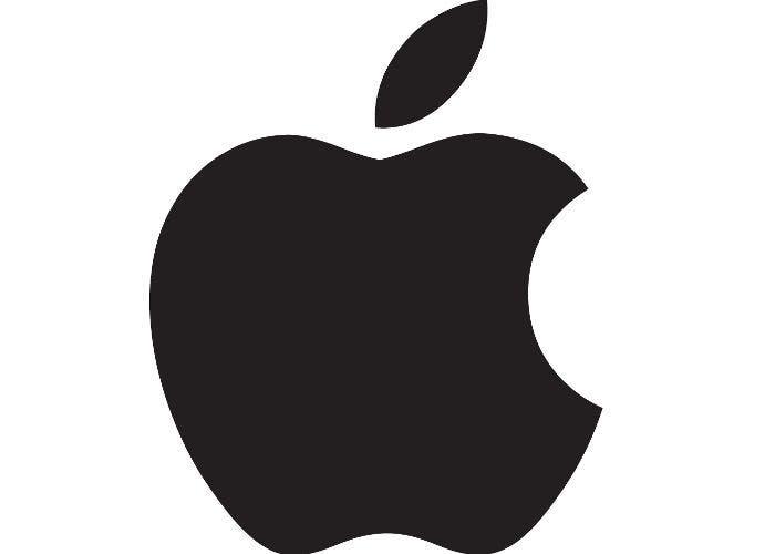 Logo con la manzana característica de la marca Apple