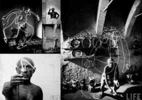 Ligth painting Picasso fotografiado por Gijon Milli