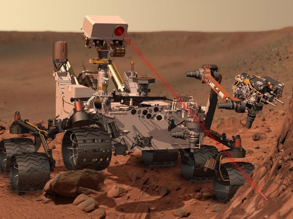 Recreación de las tareas que llevará a cabo del Rover de la misión Curiosity
