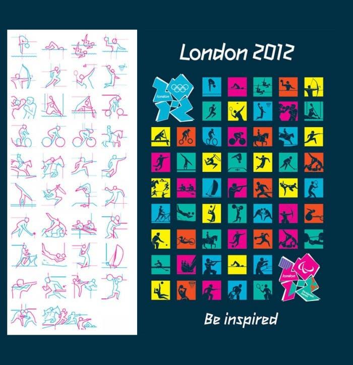 Pictogramas diseñados para JJOO Londres 2012
