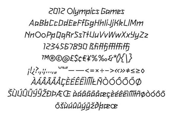 Tipografía 2012 Olimpic Games