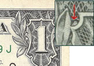 Supuesto búho presente en el billete de dólar americano