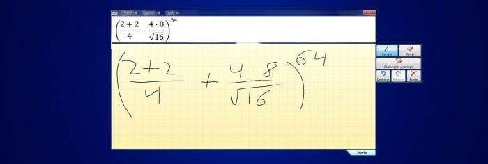Ejemplo de Entrada Matematica