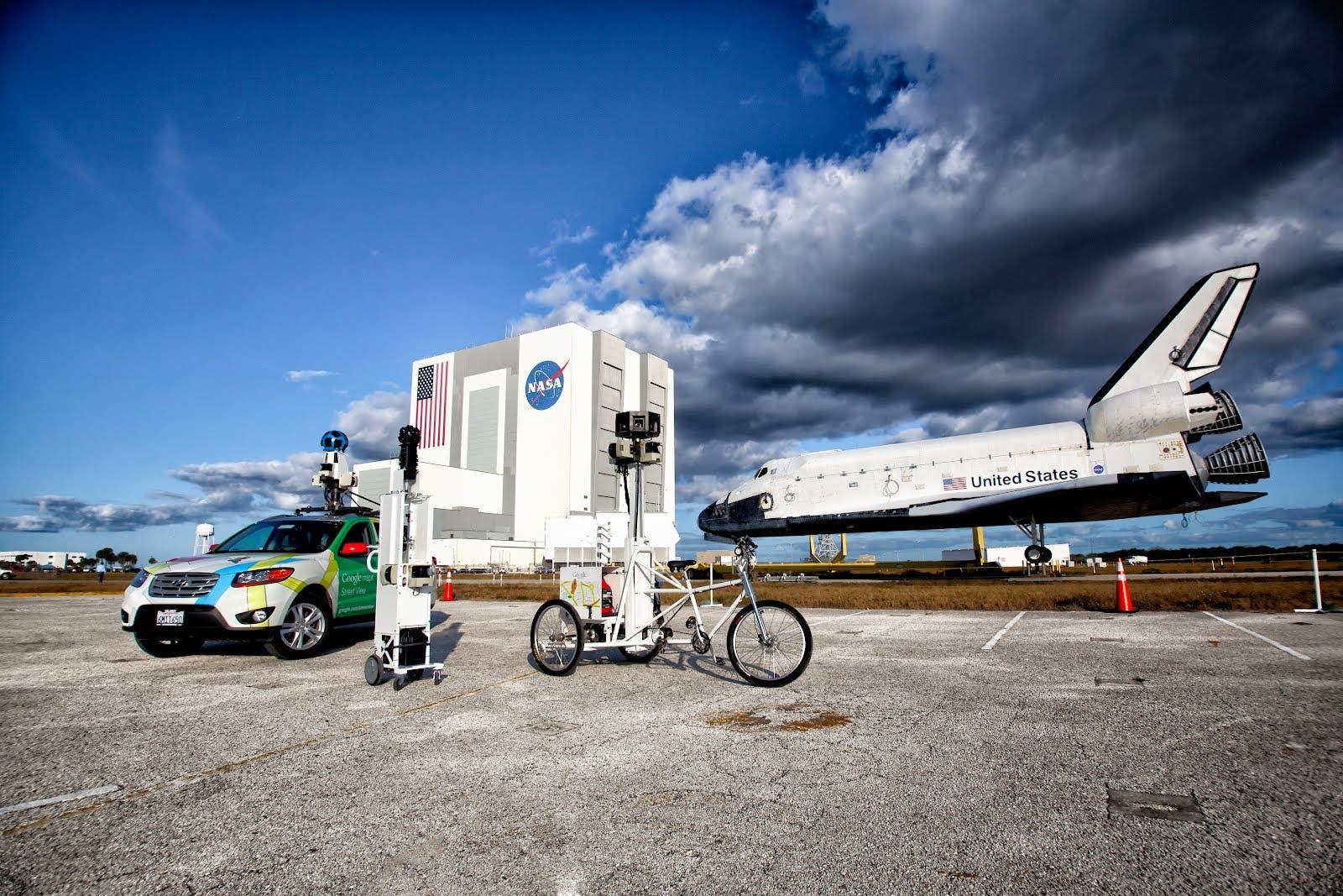 Tecnología de Google Street View en el Centro Espacial Kennedy